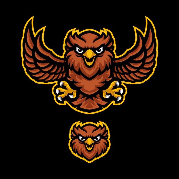 Modèle De Vecteur Logo Mascotte Owl Vecteur Premium