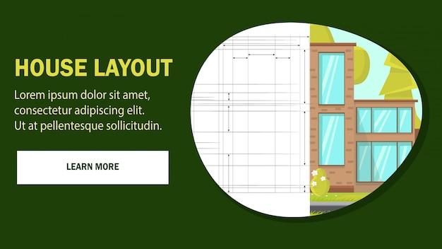 Modèle De Vecteur De Maison Mise En Page Web Page. Vecteur Premium