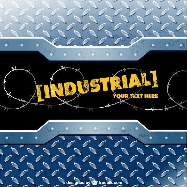 Modèle de vecteur de métal industriel Vecteur gratuit