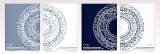 Modèle De Vecteur Moderne Pour Brochure Magazine Ou Rapport Annuel Brochure Catalogue Dépliant Flyer Couverture. Vecteur Premium