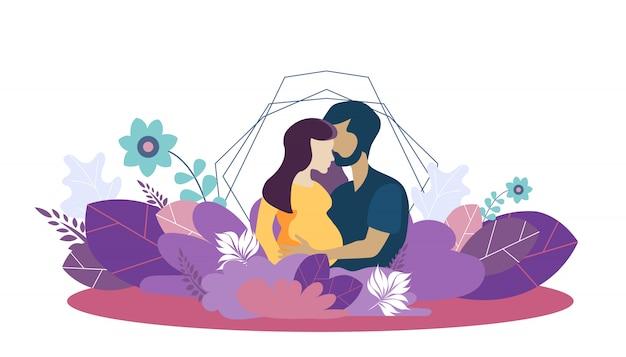 Modèle de vecteur pour la famille croissante et l'amour ...