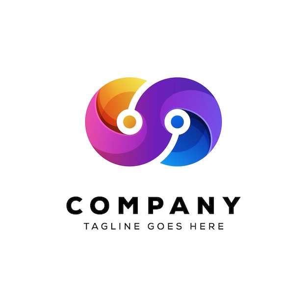Modèle De Vecteur De Technologie Infini Logo Vecteur Premium