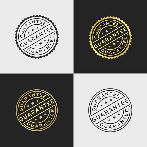 Modèle de vecteur de timbre de garantie Vecteur Premium