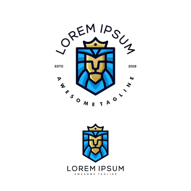 Modèle de vector illustration lion concept Vecteur Premium
