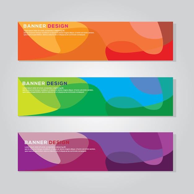 Modèle vectoriel de bannière colorée Vecteur Premium