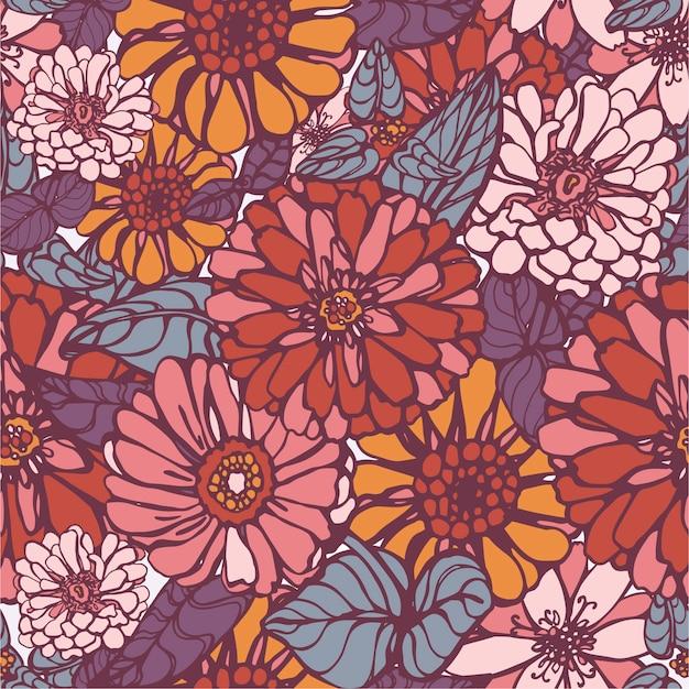 Modèle vectoriel de belle fleur Vecteur Premium