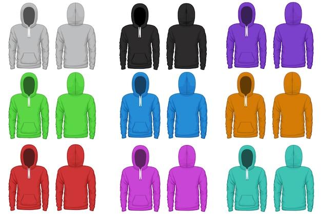 Modèle Vectoriel à Capuche Raglan. Raglan En Tissu, Sweat à Capuche, Porter Une Illustration De Vêtement Vecteur gratuit