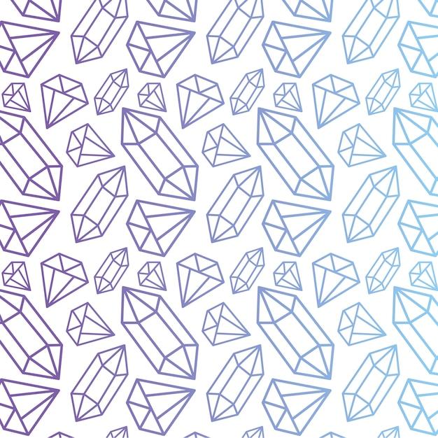 Modèle vectoriel avec diamants Vecteur Premium