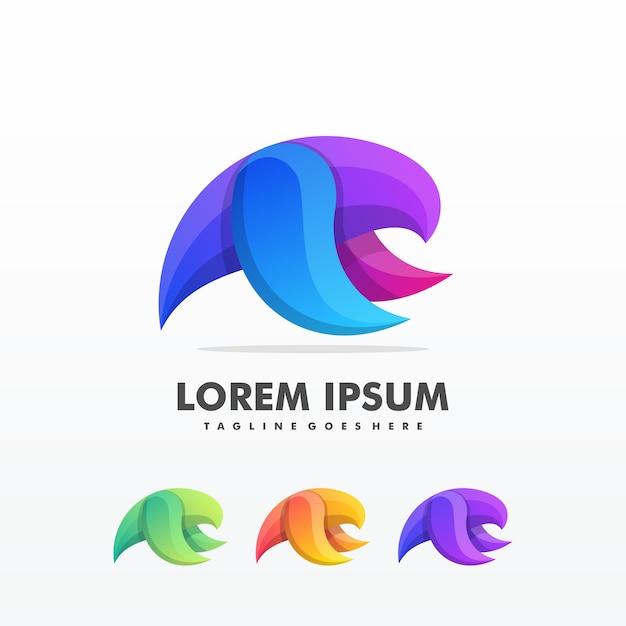 Modèle vectoriel de flying bird abstract logo design Vecteur Premium