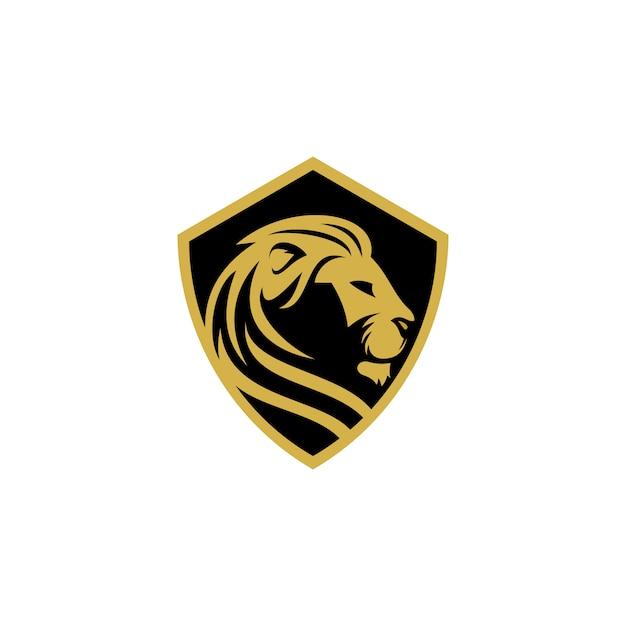 Modèle vectoriel de logo lion Vecteur Premium
