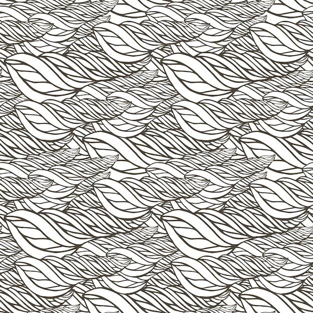 Coloriage Adulte A Imprimer Abstrait.Modele Vectoriel Avec Ornement Vague Abstrait Page De Livre