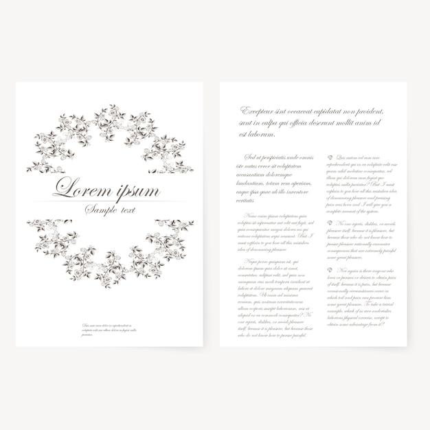 Modèle Vectoriel Pour Dossier, Carte De Visite Et Invitation Vecteur gratuit
