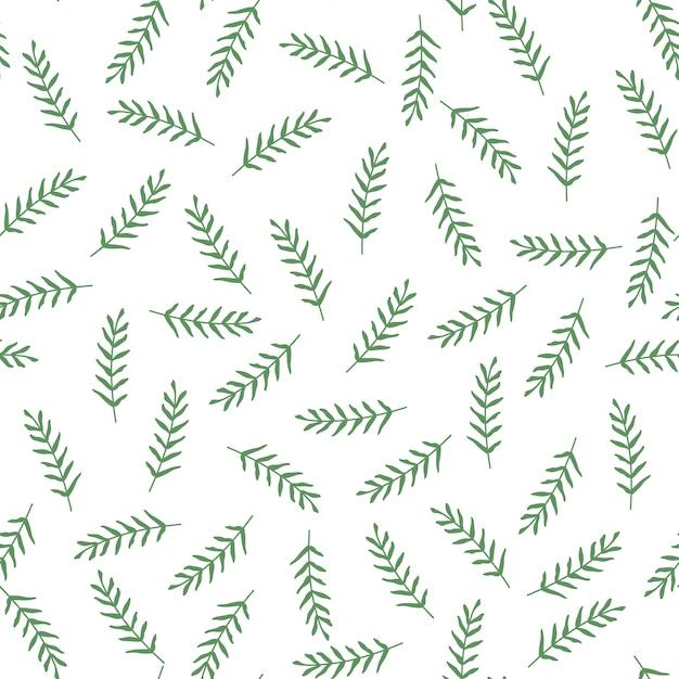 Modèle vectorielle continue avec les feuilles et les branches. Vecteur Premium