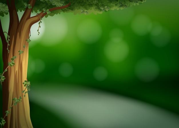 Un Modèle Vert Naturel Vecteur gratuit