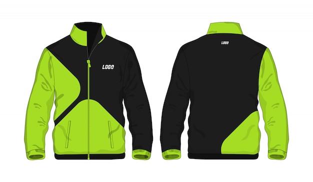 Modèle De Veste De Sport Vert Et Noir Pour La Conception Sur Fond Blanc. Illustration Vectorielle Eps 10. Vecteur Premium