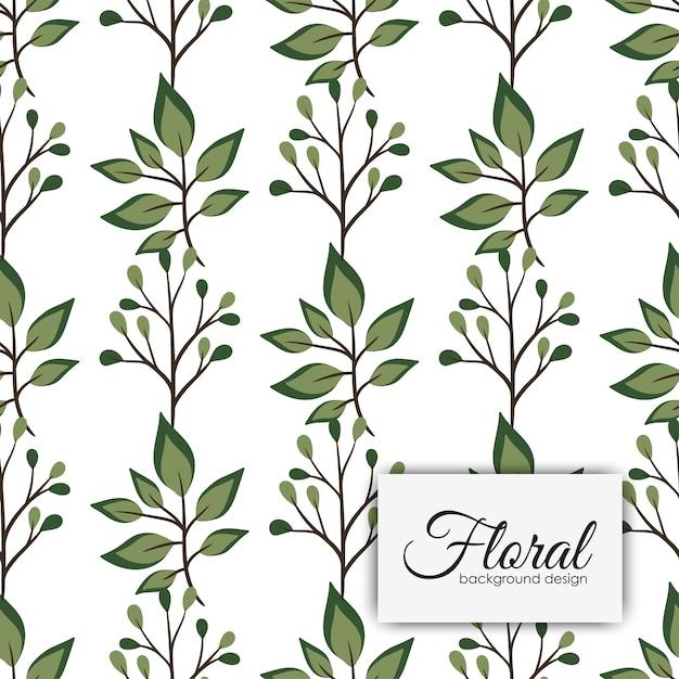 Modèle vintage de fleur transparente motif Vecteur gratuit