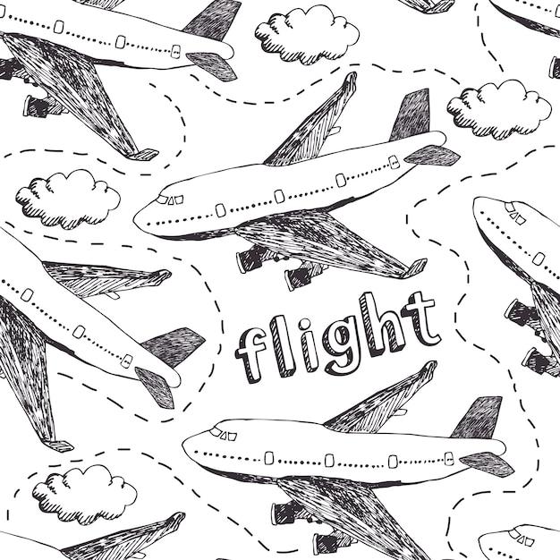 Modèle de vol Vecteur gratuit