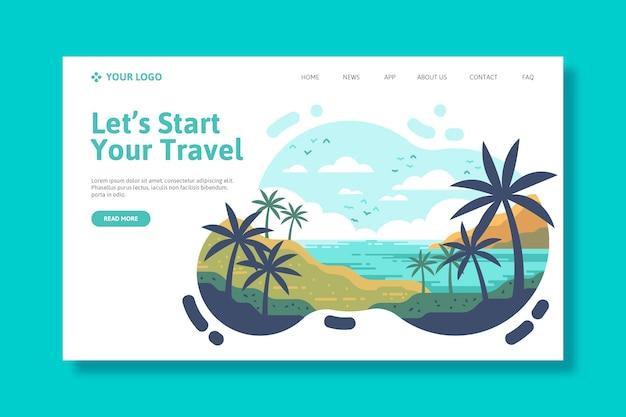 Modèle De Voyage De Page De Destination Vecteur gratuit