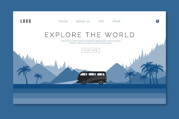 Modèle De Voyage Pantone De Page D'atterrissage Vecteur gratuit