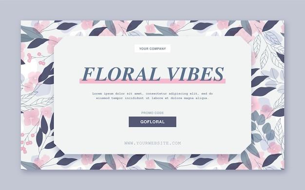 Modèle Web De Bannière D'ambiance Florale Vecteur gratuit