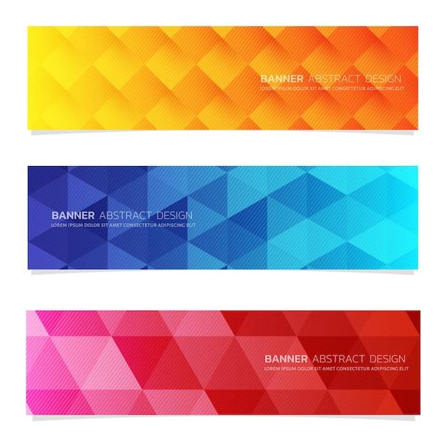 Modèle web bannière de conception abstraite. Vecteur Premium
