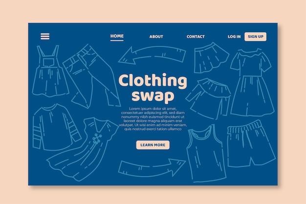 Modèle Web D'échange De Vêtements Plats Vecteur gratuit