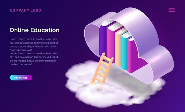 Modèle Web D'éducation Ou De Bibliothèque En Ligne Vecteur gratuit