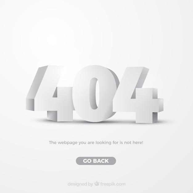 Modèle web erreur 404 dans le style isométrique Vecteur gratuit