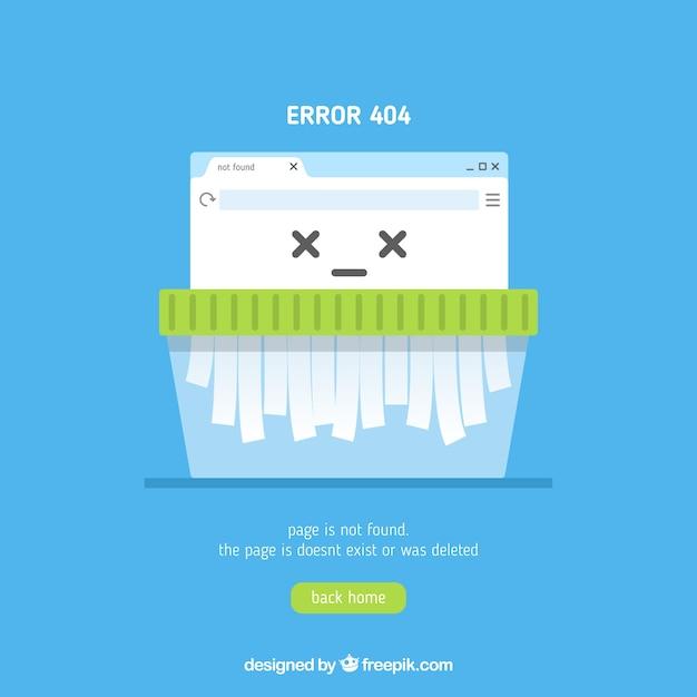 Modèle web erreur 404 dans un style plat Vecteur gratuit