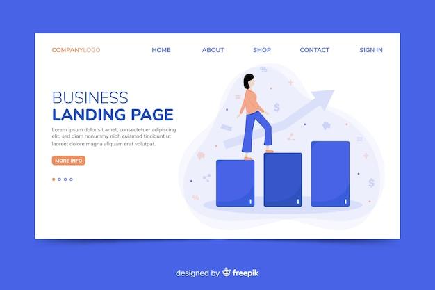 Modèle Web De Page De Renvoi Corporative Pour Les Agences De Marketing Vecteur gratuit