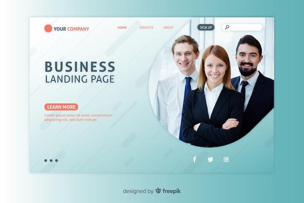 Modèle Web De Page De Renvoi Corporative Pour Entreprises Ou Agences Vecteur gratuit