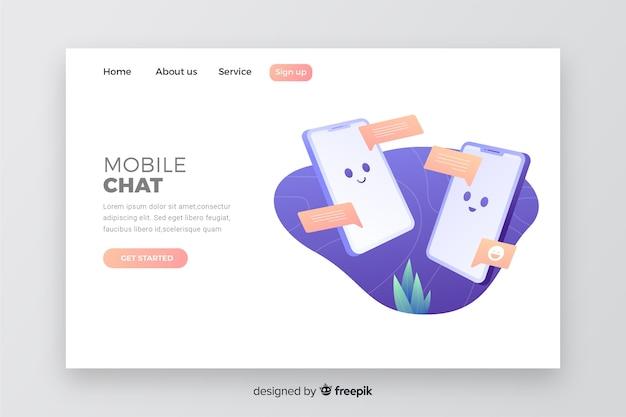 Modèle web pour entreprise avec mobile Vecteur gratuit