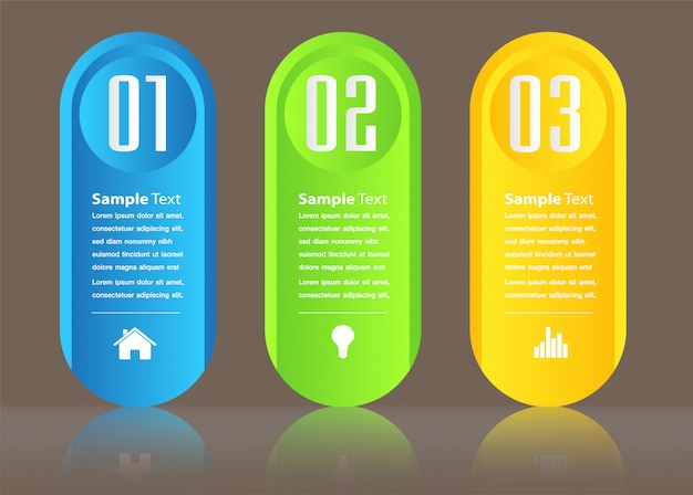 Modèle De Zone De Texte Papier Moderne, Bannière Infographique Vecteur Premium