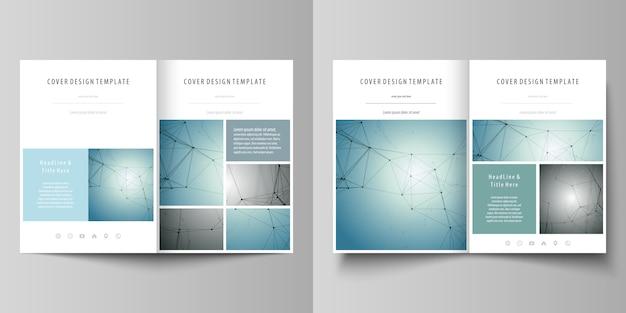 Modèles d'affaires pour la brochure bi fois Vecteur Premium
