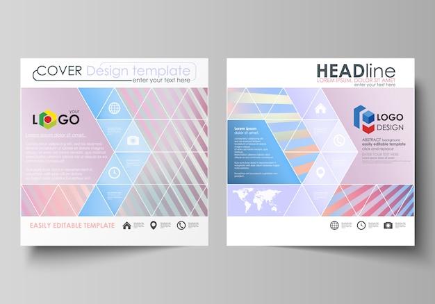 Modèles d'affaires pour brochure carrée Vecteur Premium