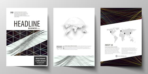 Modèles d'affaires pour la brochure Vecteur Premium