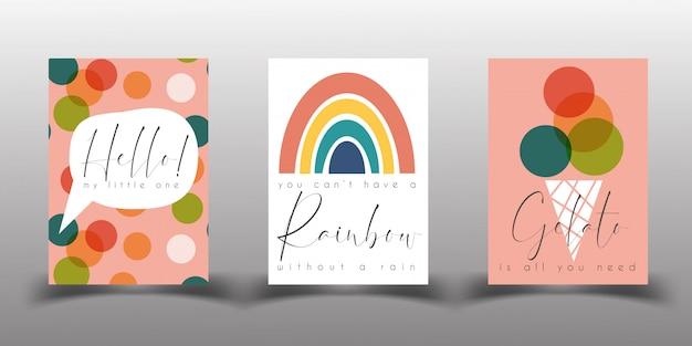 Modèles D'affiche Ou De Carte D'anniversaire De La Garderie Vecteur Premium