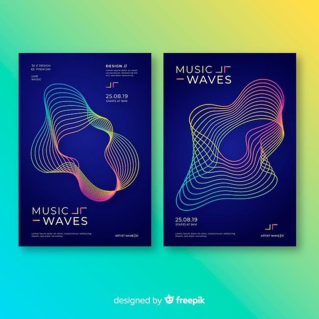 Modèles d'affiches de musique Vecteur gratuit