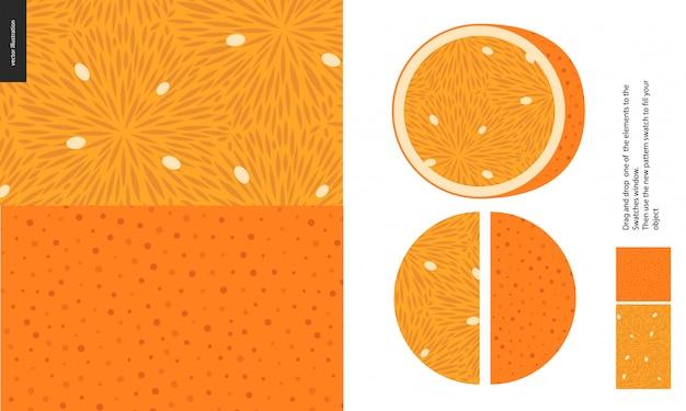 Modèles Alimentaires, Fruits, Orange Vecteur Premium