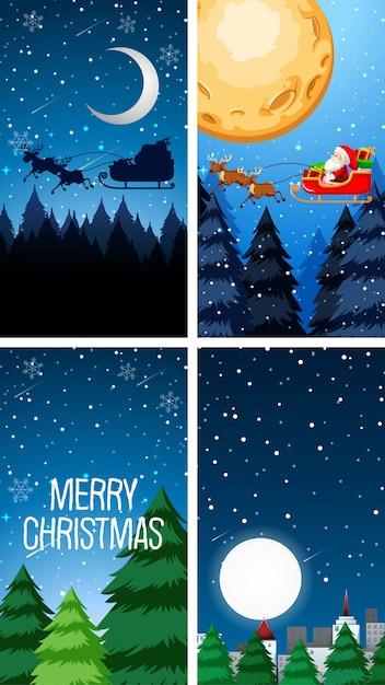 Modèles D'arrière-plan Avec Le Thème De Noël Vecteur gratuit