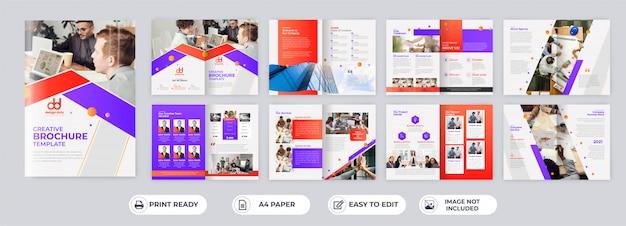 Modèles De Brochure D'entreprise De 16 Pages Vecteur Premium