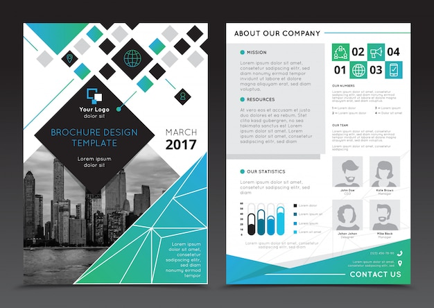 Modèles De Brochure De Rapport D'entreprise Sur Illustration Vectorielle Fond Gris Plat Isolé Vecteur gratuit