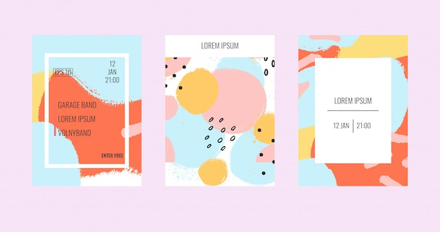 Modèles de brochures universels contemporains. Vecteur Premium