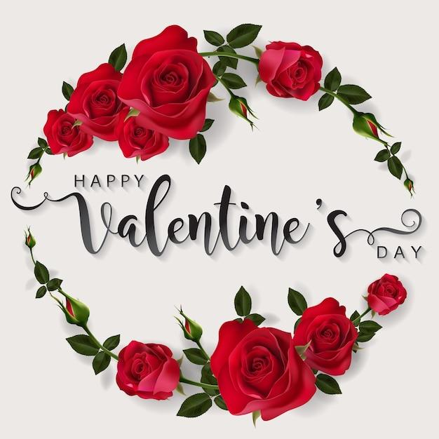 Modèles De Carte De Voeux Saint Valentin. Vecteur Premium