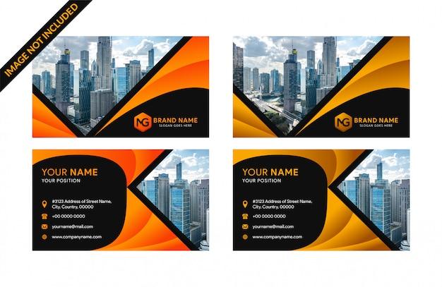 Modèles de cartes de visite d'entreprise Vecteur Premium