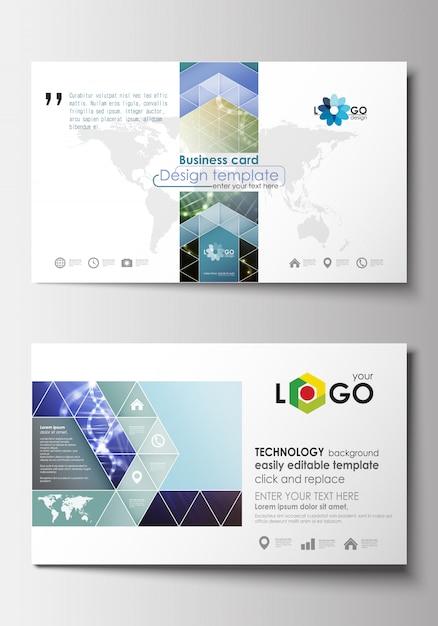 Modèles de cartes de visite. modèle de conception de la couverture Vecteur Premium