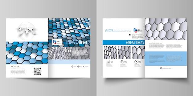 Modèles commerciaux pour brochure bi fold Vecteur Premium