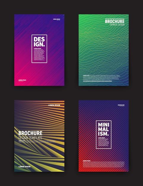 Modèles de conception de vecteur brochure couverture de flyer Vecteur Premium
