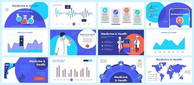 Modèles De Diapositives De Présentation De Coronavirus à Partir D'éléments Infographiques Vecteur Premium
