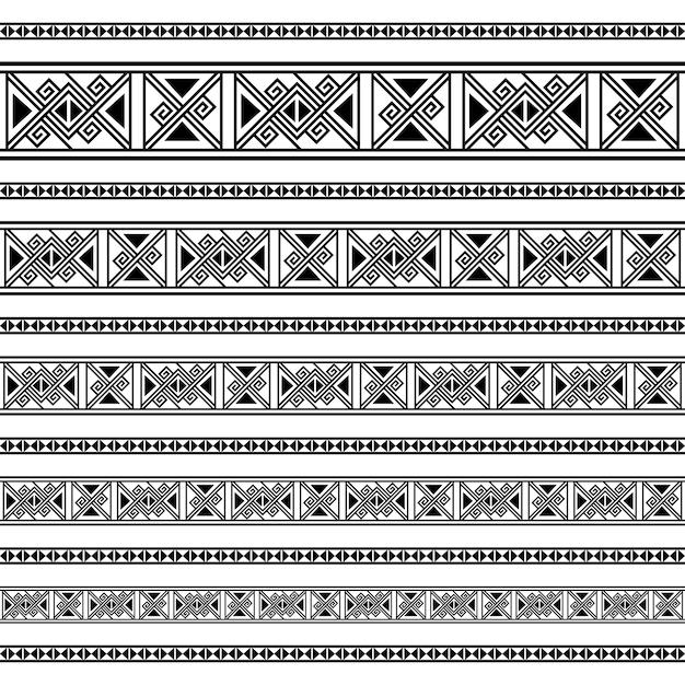 Modèles d'éléments de décoration de frontière Vecteur Premium